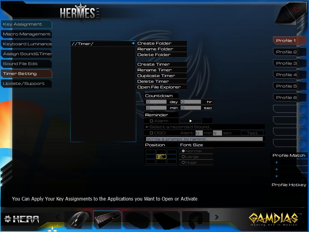 Hera-Hermes-Timer-Setting